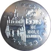 25 Ecus - Dole (Louis Pasteur) – reverse