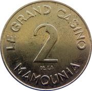 2 Dirham - La Mamounia Grand Casino (Marrakesh) – reverse