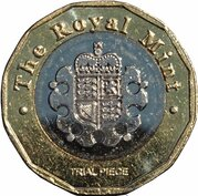 1 Pound - Royal Mint Trial – reverse