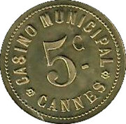 5 Centimes - Casino Municipal (Cannes) – obverse