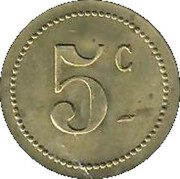 5 Centimes - Casino Municipal (Cannes) – reverse