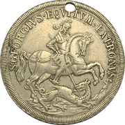 Token - S. Georgius Equitum Patronus / Intempestate Securitas (Kremnitz) – obverse