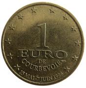 1 Euro - Courbevoie – obverse