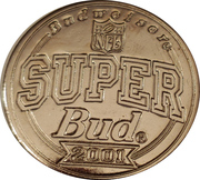 Token - Budweiser NFL Super Bud (Super bowl XXIX - San Francisco 49ers vs San Diego Chargers - 1995) – reverse