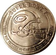Token - Budweiser NFL Super Bud (Super bowl I - Green Bay Packers vs Kansas City Chiefs - 1967) – obverse