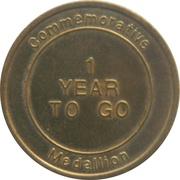 Commemorative Medallion - The Sunday Telegraph (Sydney 2000 Olympic Games - 1 Year to go) – obverse