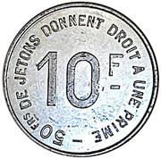 10 Francs - Lourdes Hautes-Pyrénées – reverse