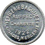 5 Centimes - Epicerie Bagouet Ruffec – obverse