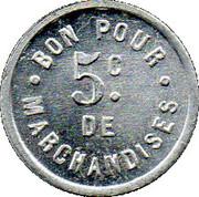 5 Centimes - Epicerie Bagouet Ruffec – reverse