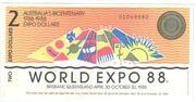 2 Expo Dollars – obverse