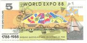 5 Expo Dollars – obverse