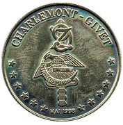 1 Euro - CEC 9° Zouaves (Charlemont - Givet) – reverse