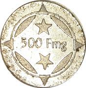 500 Fmg - Glacier (Antananarivo) – reverse