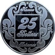 25 Dollars - Paradise Island Casino (Nassau) – reverse