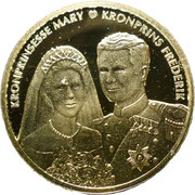 Token - Wedding of Crown Prince Frederik and Crown Prince Mary – obverse