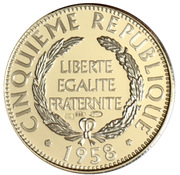 Token - Présidents de la République française (De Gaulle) – reverse