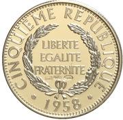 Token - Présidents de la République française (Pompidou) – reverse