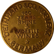 Spinner Token - Deinhard Wine Florin (Coblenz) – reverse