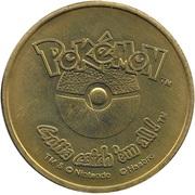 Pokémon Battle Coin (#123 Scyther) – reverse