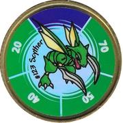 Pokémon Battle Coin (#123 Scyther) – obverse