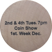 Wooden Nickel - Cape Fear Coin Club (Fayetteville, North Carolina) – reverse