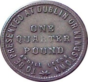 1 Farthing (Dublin - India & China Plantation Tea Company) – reverse