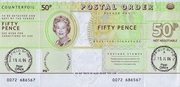 50 Pence - Postal Order - Field Post Office – obverse