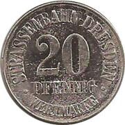 20 Pfennig (Dresden - Esders) – obverse
