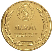 Medal - States of the Union (Alabama) – reverse