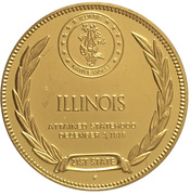 Medal - States of the Union (Illinois) – reverse