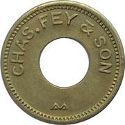 5 Cents - Chas. Fey & Son (San Francisco, California) – obverse