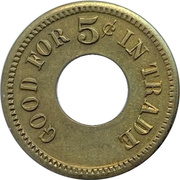5 Cents - Chas. Fey & Son (San Francisco, California) – reverse