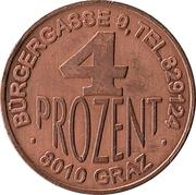 Token - 4 prozent Magazzin (Graz) – reverse