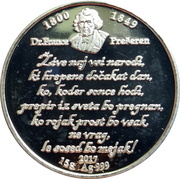 Token - Silver coin of Peace and Love – obverse