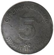 5 Geschenk-Dukaten - Seibel – reverse