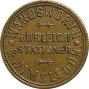 1 Shilling - Wandsworth & Wimbledon Burleigh Stationer (Wandsworth, Surrey) – obverse
