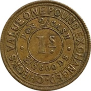 1 Shilling - Wandsworth & Wimbledon Burleigh Stationer (Wandsworth, Surrey) – reverse