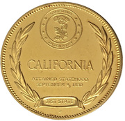 Medal - States of the Union (California) – reverse