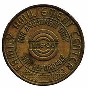 Arcade Token - Time-Out Family Amusement Centers (Fairfax, Virginia) – reverse