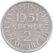 2 Schilling - Theodor Korner – reverse