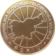 Token - Slovenska vojska (Poveljniško štabna šola, 11. štabno šolanje) – reverse