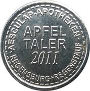 Apfel Taler - Aesculap Apotheken (Regensburg) – reverse