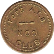 5 Cents - N.C.O. Club (Pope Air Force Base, North Carolina) – obverse