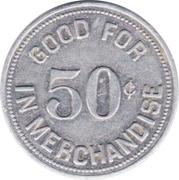 50 Cents - N.C.O. Club (Pope Air Force Base, North Carolina) – reverse