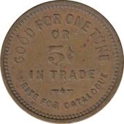 5 Cents - Watling Mfg. Co. (Chicago, Illinois) – reverse