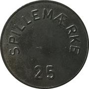 25 Spillemærke - A.P. – reverse