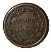 Civil War Store Card Token - D.L. Wing & Co. Union Flour (Albany, New York) – reverse