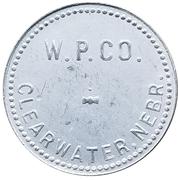 1 Dollar - W. P. Co. (Clearwater, Nebraska) – obverse