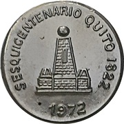 Medallion - Quito Sesquicentennial – reverse
