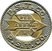 1 Zone Fare - Red Arrow Lines, P.S.T. Co. (Upper Darby, Pennsylvania) – obverse